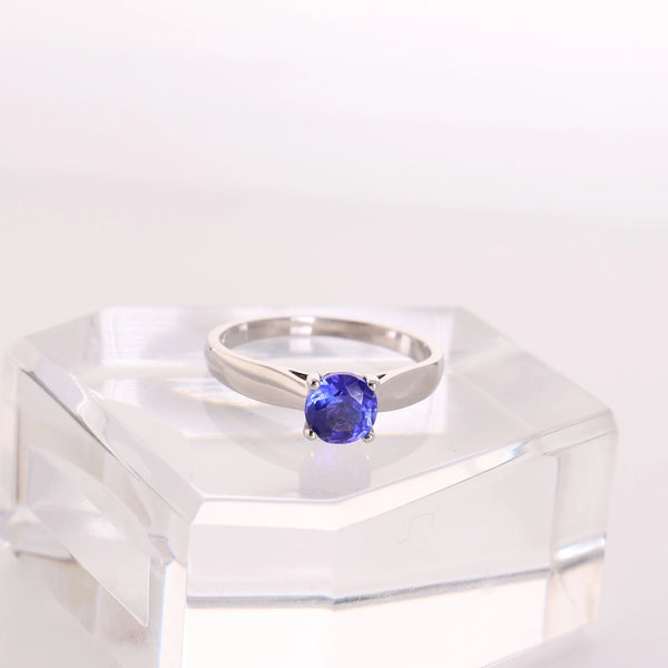 Round Solitaire Tanzanite Ring