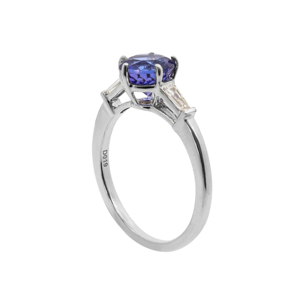 Six Claw Tanzanite and Diamond Ring
