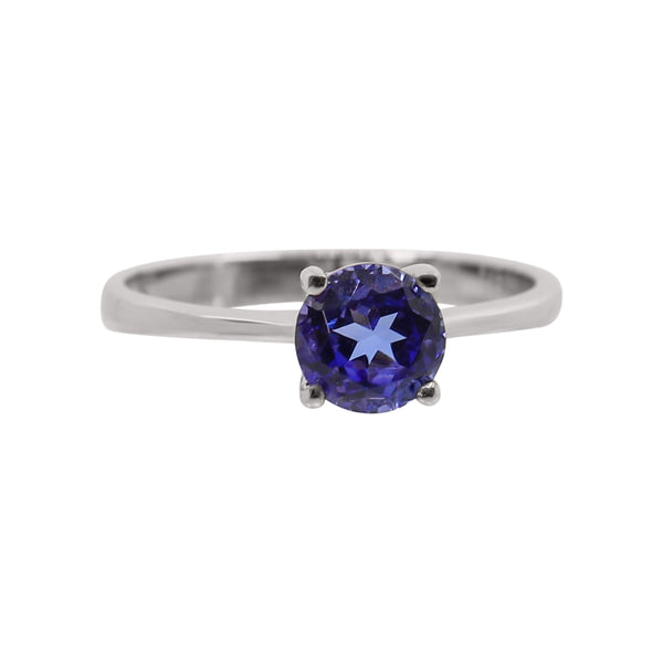 18 kt White Gold Tanzanite Solitaire Ring