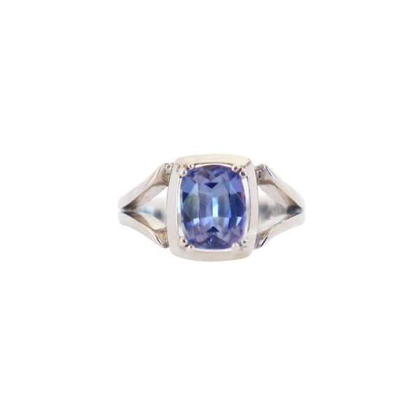 Cushion Tanzanite Split-band Ring - Cape Diamond Exchange