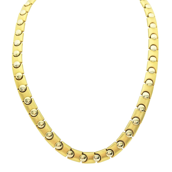 Two Tone Necklace with Little Domes - Cape Diamond Exchange