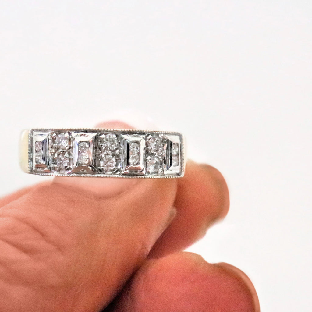 18kt Two Tone Diamond Eternity Ring
