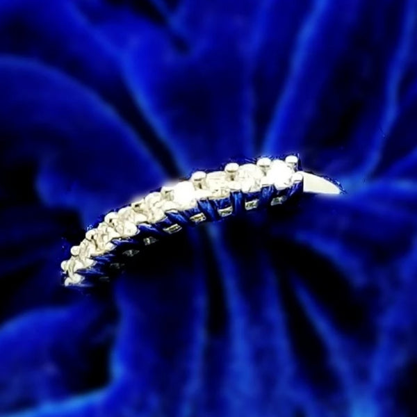 9 kt White Gold Eternity Diamond Ring - Cape Diamond Exchange