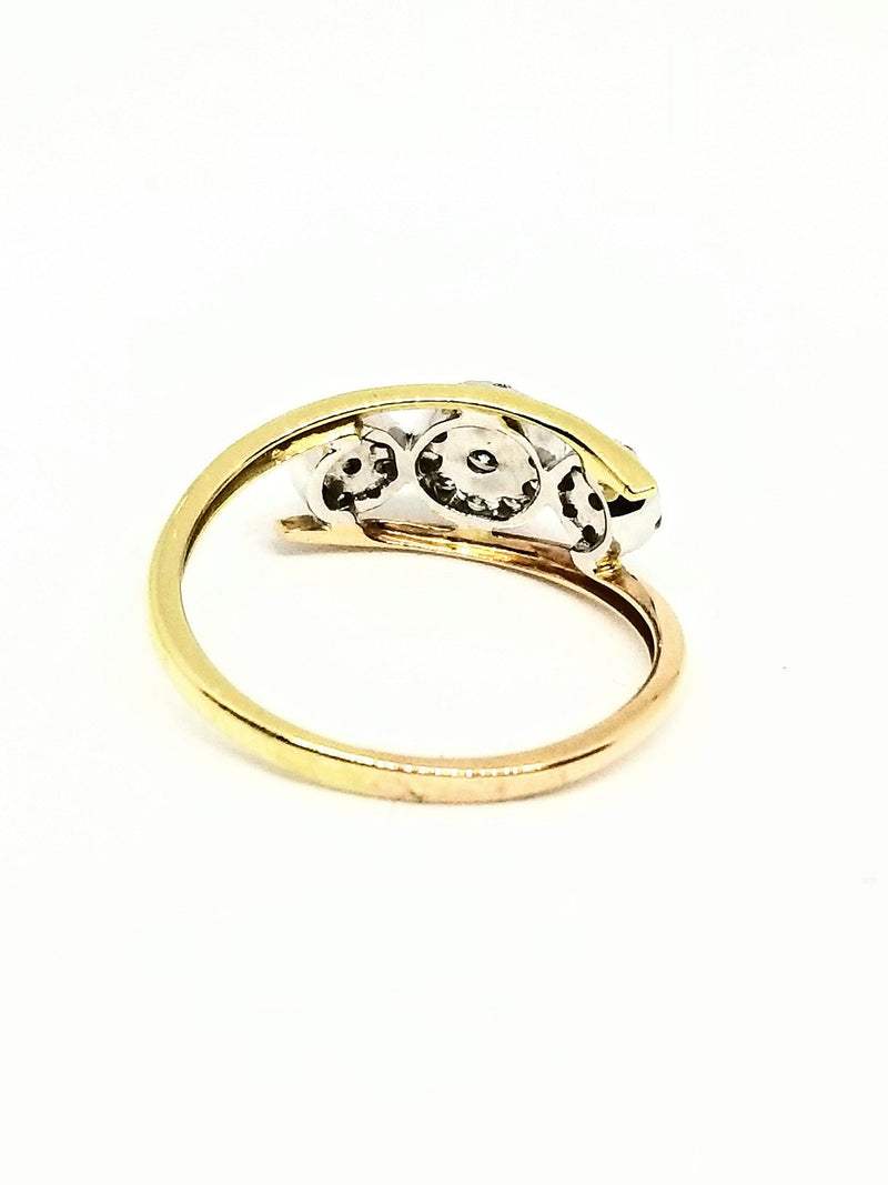 14kt Yellow, White and Rose Gold Fancy Diamond Ring - Cape Diamond Exchange
