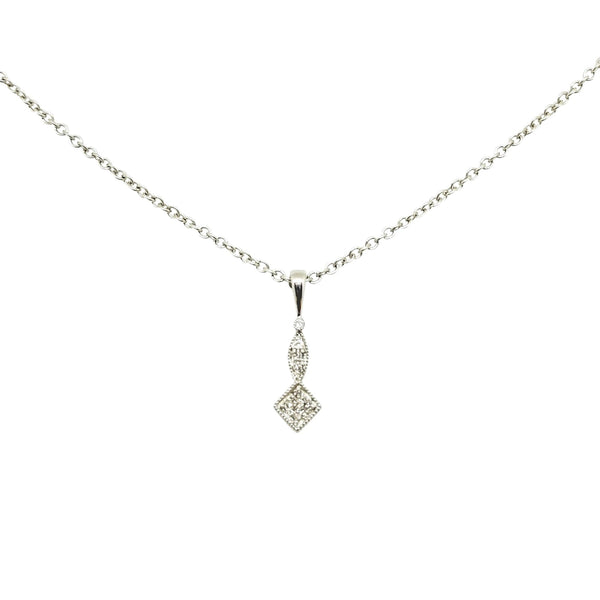 9kt White Gold with Diamond Pendant - Cape Diamond Exchange