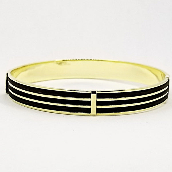 Elephant Hair Gold Bangle - Cape Diamond Exchange