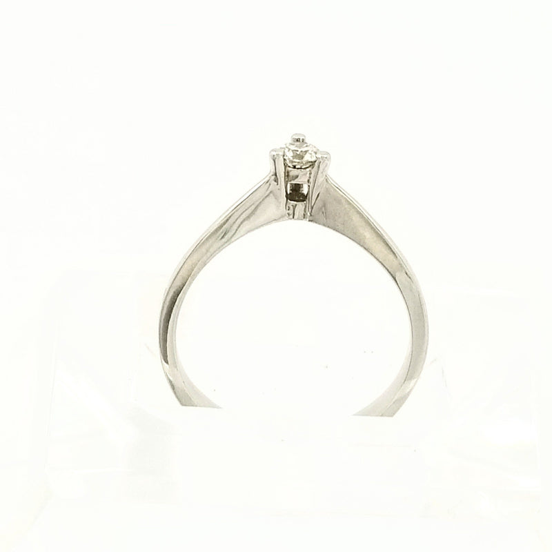 Dainty White Gold Engagement Ring - Cape Diamond Exchange