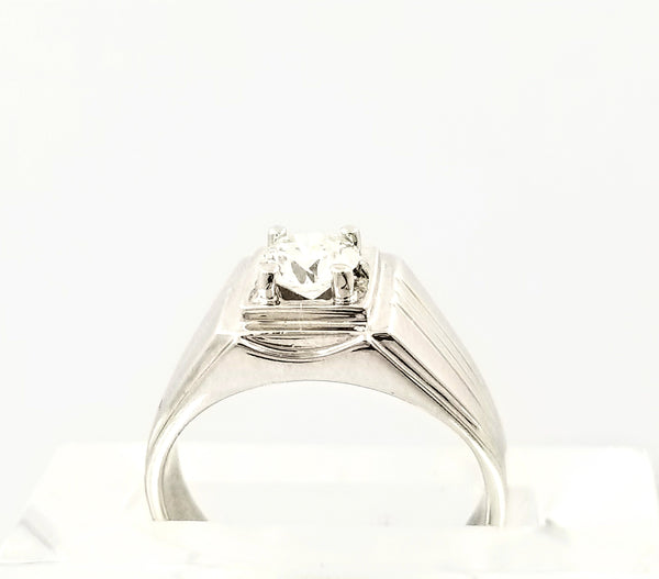 Men's Ring With Grooves on the Side - Cape Diamond Exchange