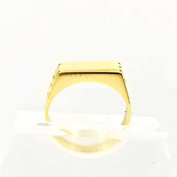 Men's Yellow Gold Signet Ring - Cape Diamond Exchange