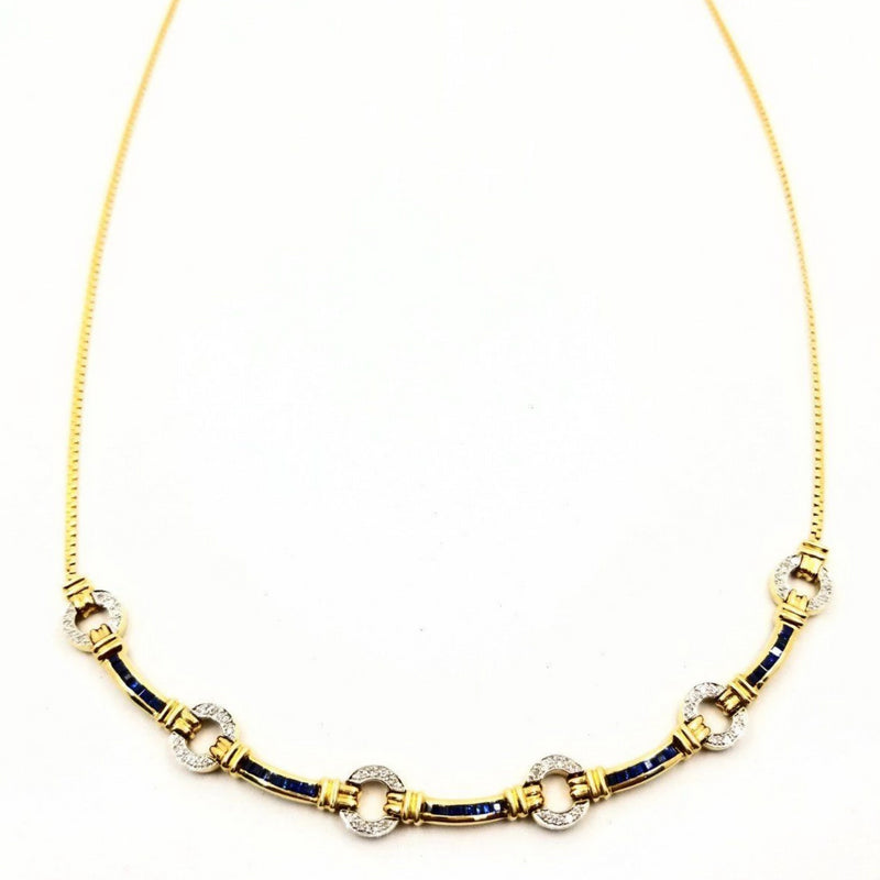 Diamonds and Sapphires Necklace - Cape Diamond Exchange