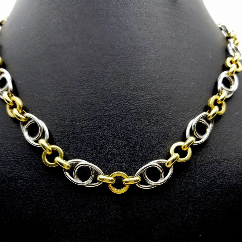 Yellow and White Gold Necklace - Cape Diamond Exchange