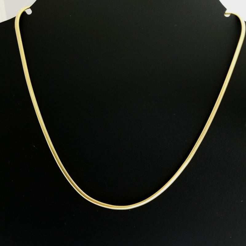 Yellow Gold Herring Bone Necklace - Cape Diamond Exchange