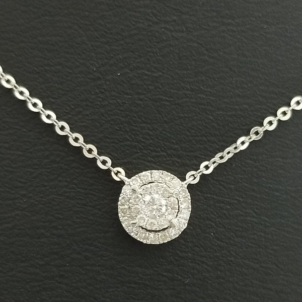 9 kt White Gold Necklace with diamonds - Cape Diamond Exchange