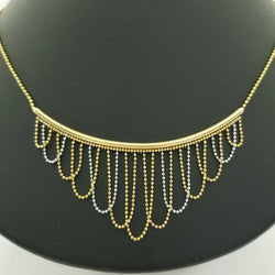 9 kt Yellow and White Gold Frills Necklace - Cape Diamond Exchange