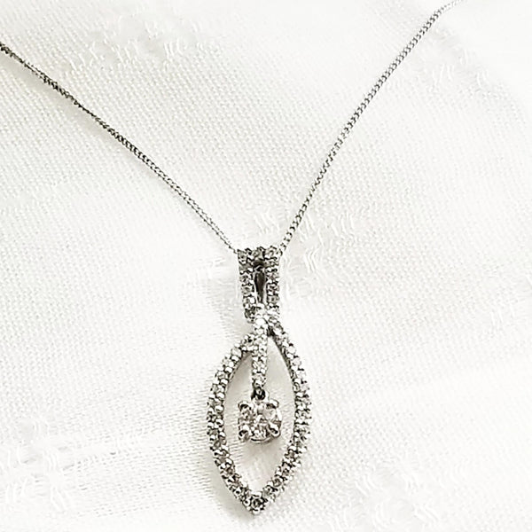 White Gold and Diamonds Pendant