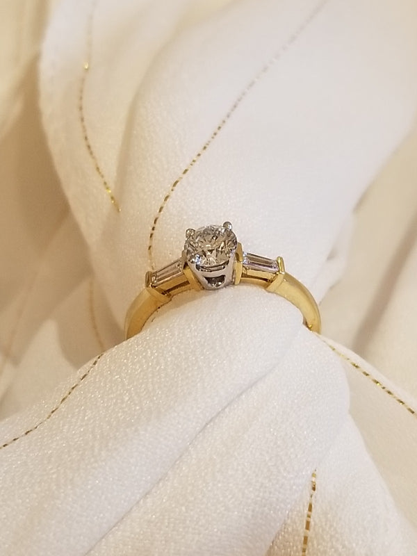 18 kt Yellow Gold diamond Engagement ring. - Cape Diamond Exchange