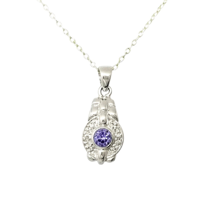18 kt White Gold Tanzanite Pendant - Cape Diamond Exchange
