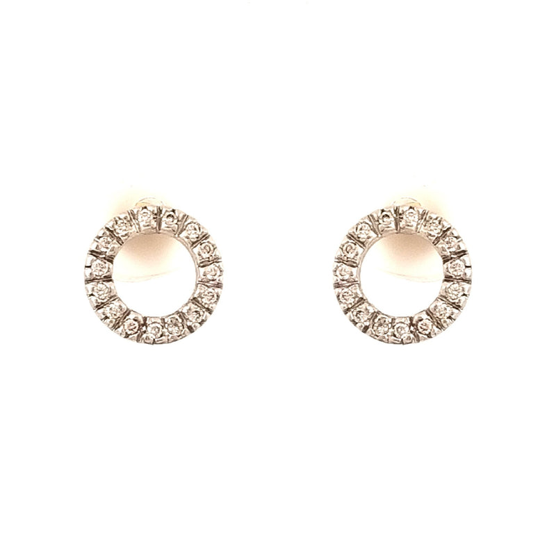 9 kt Yellow Gold Diamond Earrings - Cape Diamond Exchange