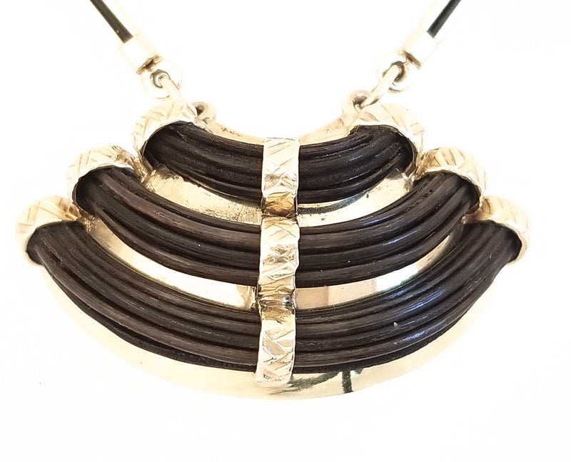 Curved Elephant Hair Necklace - Cape Diamond Exchange