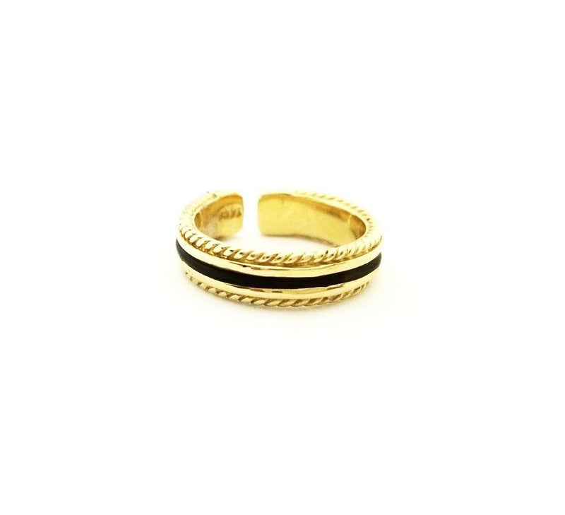 Gold Elephant Hair Ring with Twisted Edges - Cape Diamond Exchange