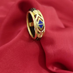 Gold African Ring with Elephant Hair - Cape Diamond Exchange