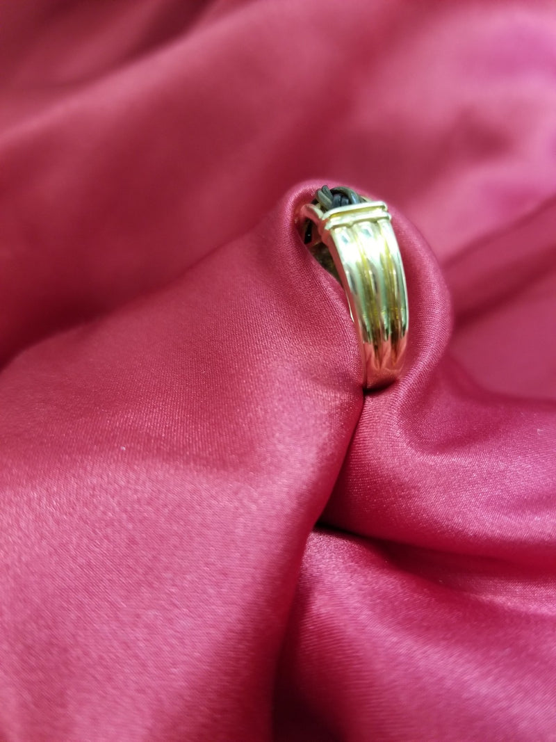 Yellow Gold Ring with Braided Elephant Hair - Cape Diamond Exchange