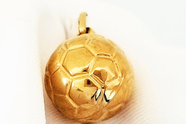 Yellow Gold Soccer Ball Pendant - Cape Diamond Exchange
