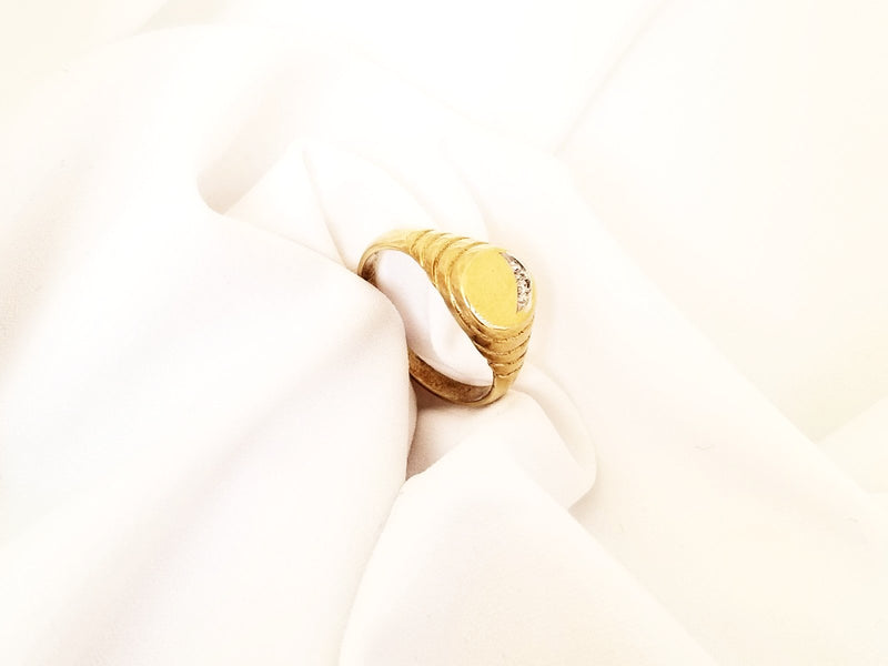 Yellow Gold Signet Ring - Cape Diamond Exchange