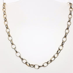 Silver Necklace Big Link - Cape Diamond Exchange