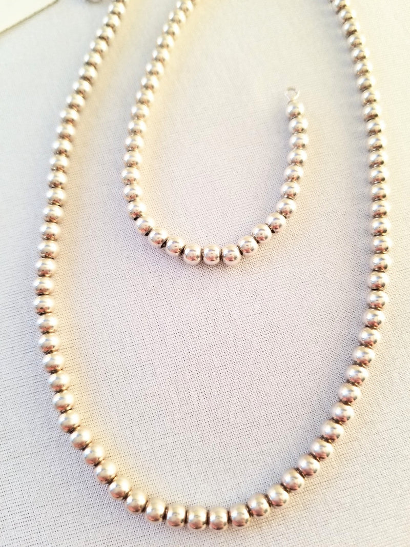 Silver Beads Necklace - Cape Diamond Exchange