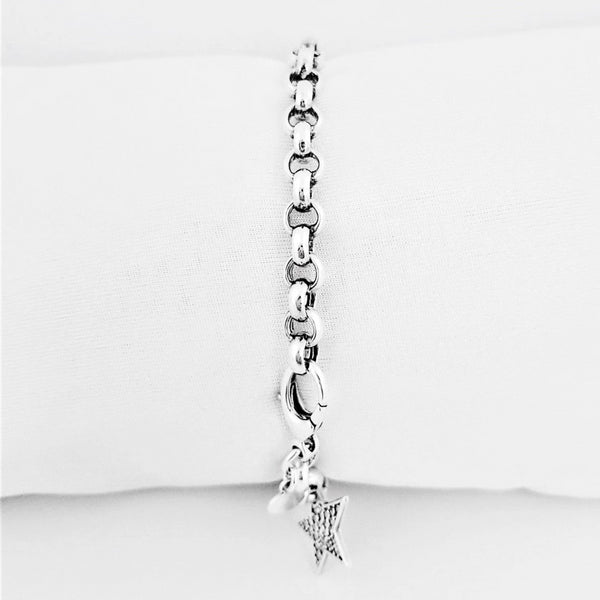 Silver Fancy Bracelet with a Star Charm