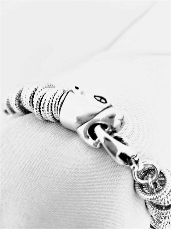 Silver Tiger Head Bracelet - Cape Diamond Exchange
