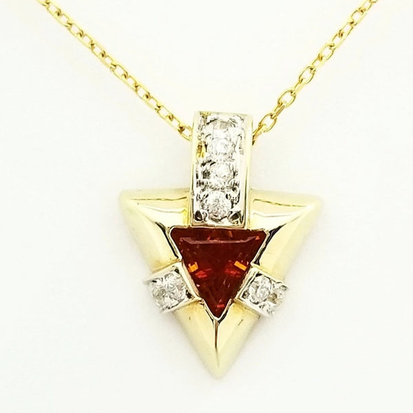 Yellow Gold Pendant set with Cubic Zirconia