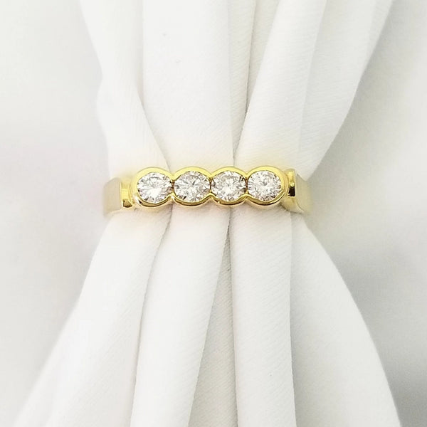 18kt Yellow Gold Diamond Eternity Ring - Cape Diamond Exchange