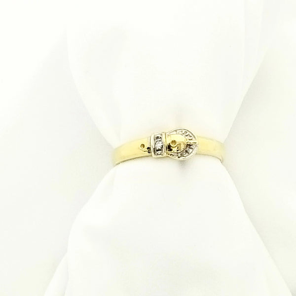 Gold Buckle Ring - Cape Diamond Exchange