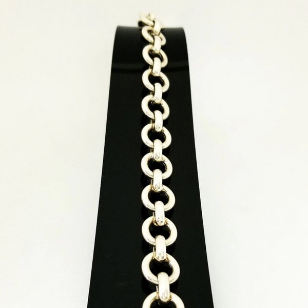 Silver Rolo links Fancy Bracelet