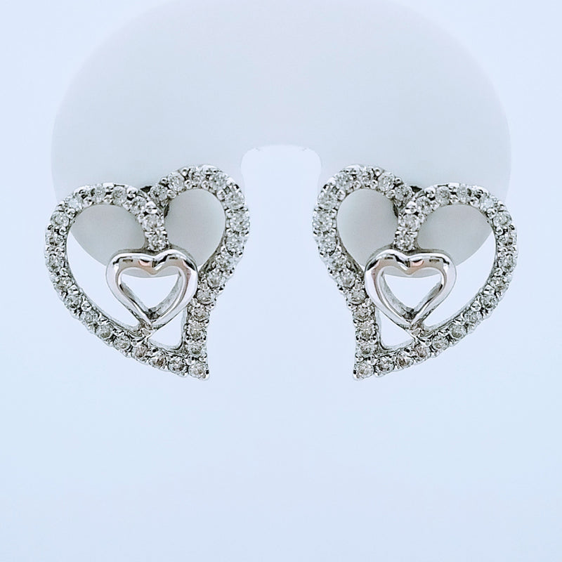 Heart Shaped Diamond Earrings - Cape Diamond Exchange