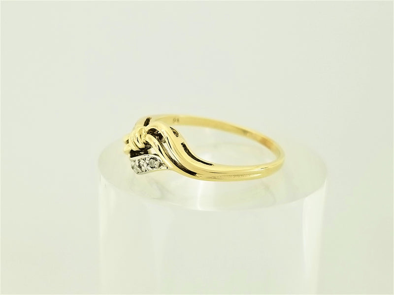 Bow Yellow Gold Diamond Ring - Cape Diamond Exchange