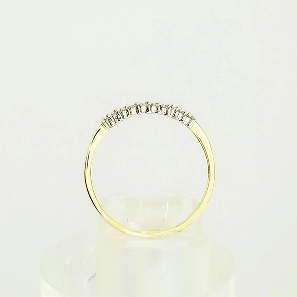 9 kt Yellow Gold Diamond Half-Eternity Ring - Cape Diamond Exchange