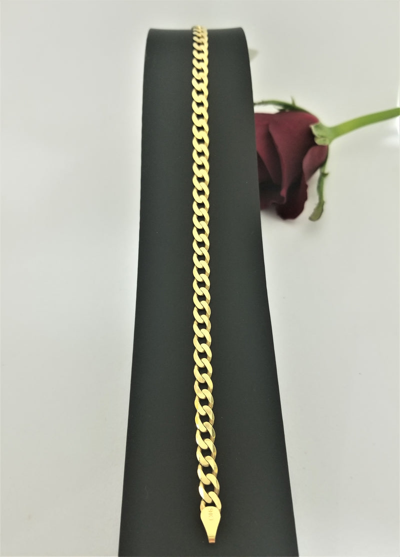 9 kt Yellow Gold Curb Link Bracelet - Cape Diamond Exchange