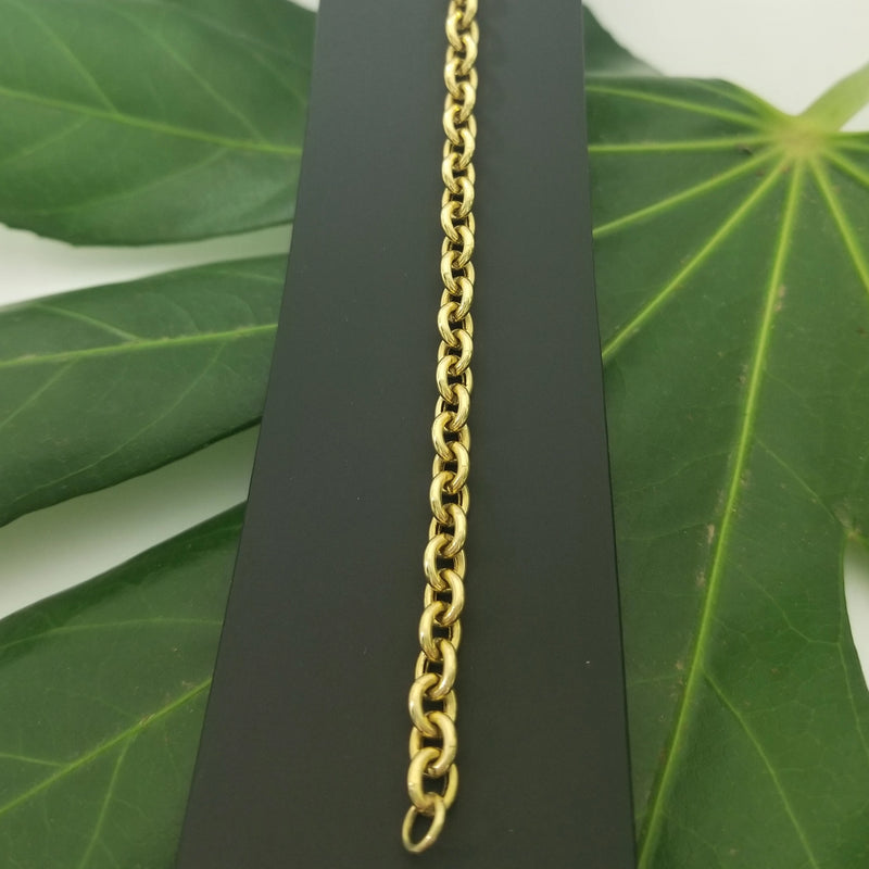 18kt Yellow Gold Anchor Link  Bracelet - Cape Diamond Exchange
