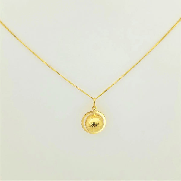 9 kt Yellow Gold Golden Globe Pendant - Cape Diamond Exchange