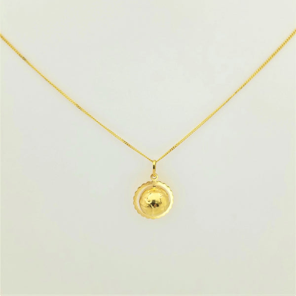 Golden Globe Yellow Gold Pendant.
