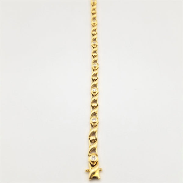 18 kt Yellow Gold Tennis Bracelet - Cape Diamond Exchange
