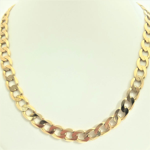 9kt Yellow Gold Curb Link Chain - Cape Diamond Exchange