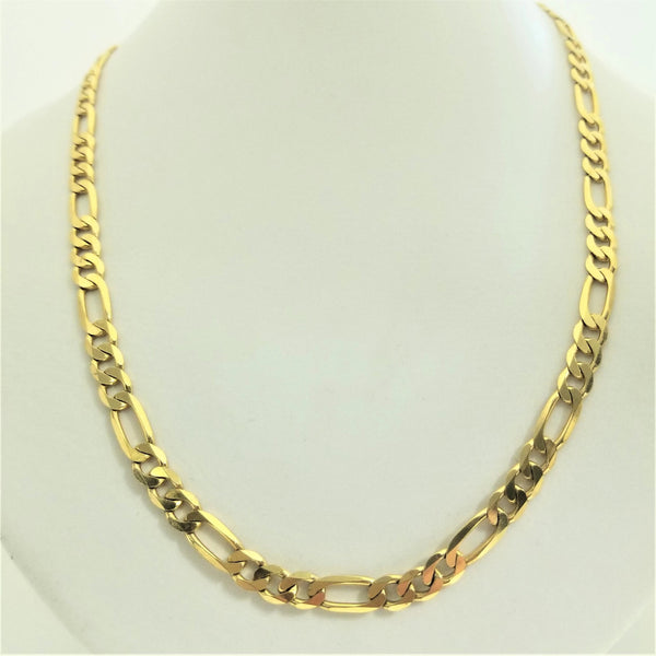 45cm Figaro Yellow Gold Chain