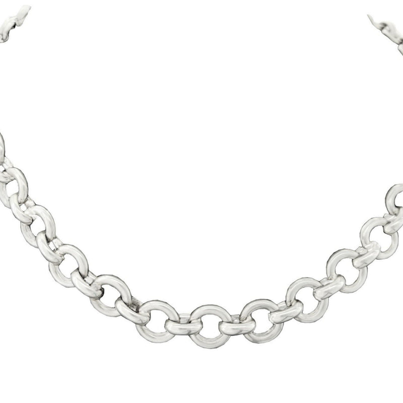 Silver Rolo-Link Necklace - Cape Diamond Exchange