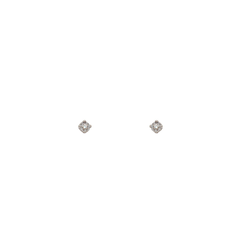 White Gold Diamond Stud Earrings - Cape Diamond Exchange
