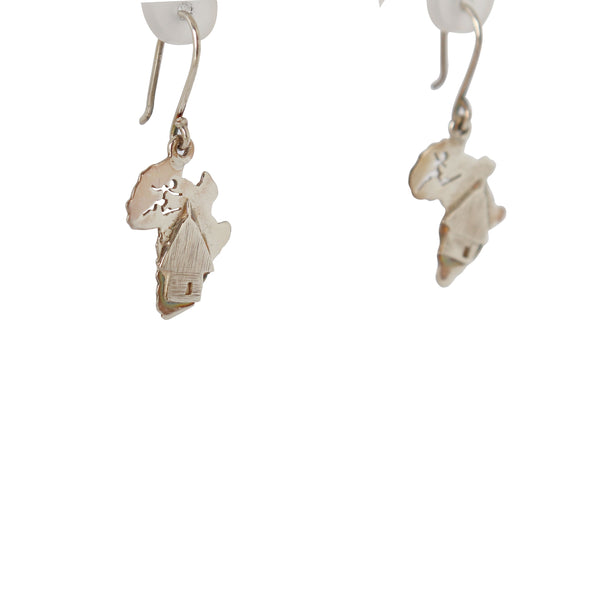 Silver Earrings with a hut Design - Cape Diamond Exchange