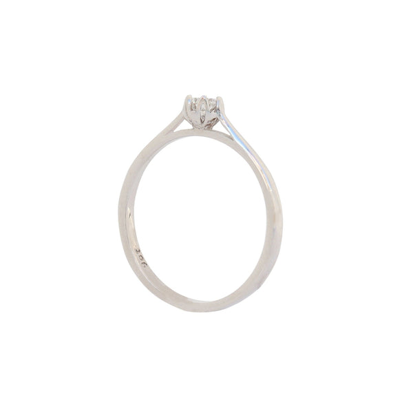 White Gold Diamond Engagement Ring - cape diamond exchange